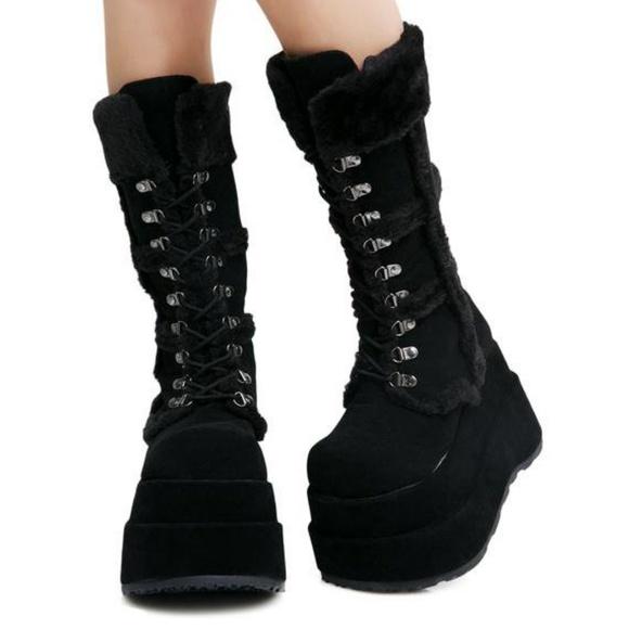 832a43d9858 Dolls Kill Shoes - Demonia - Bear platforms